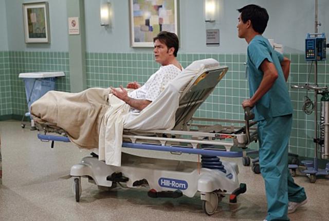 Charlie gets a colonoscopy