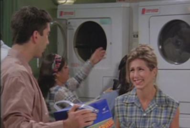 Ross and rachel do laundry