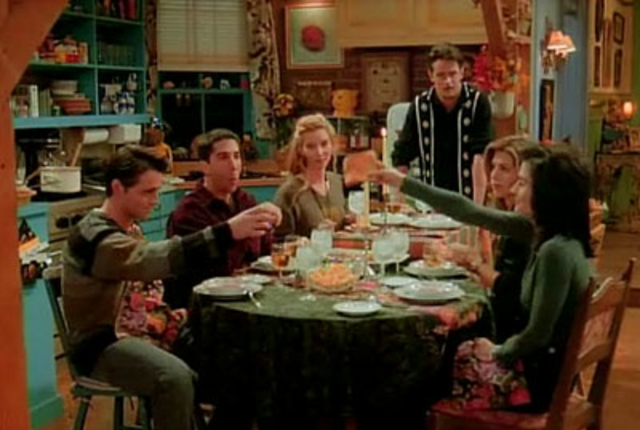 The friends first thanksgiving