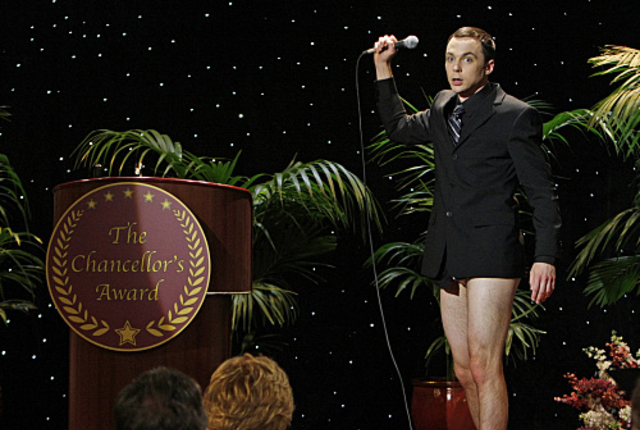 Sheldon cooper no pants