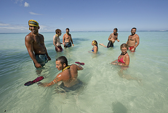 Survivors in the water