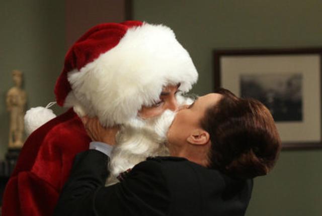 A kiss from santa