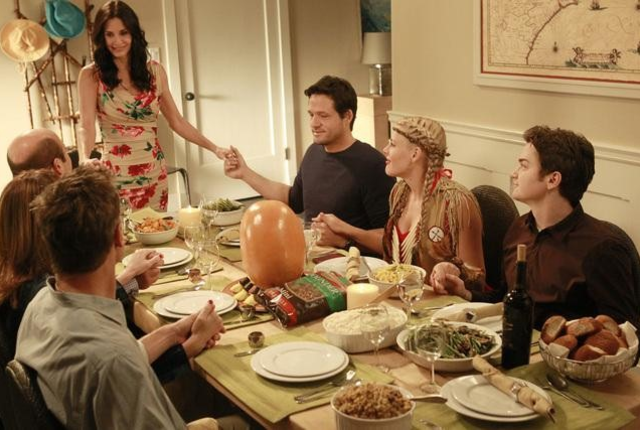 Jules and the gang celebrate thanksgiving