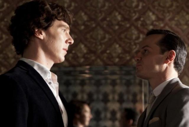 Sherlock season 2 finale scene