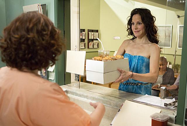 Nancy as a saleswoman