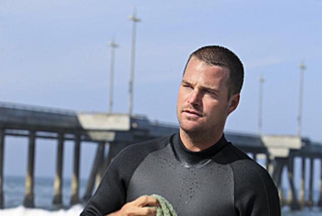 Callen in a wetsuit