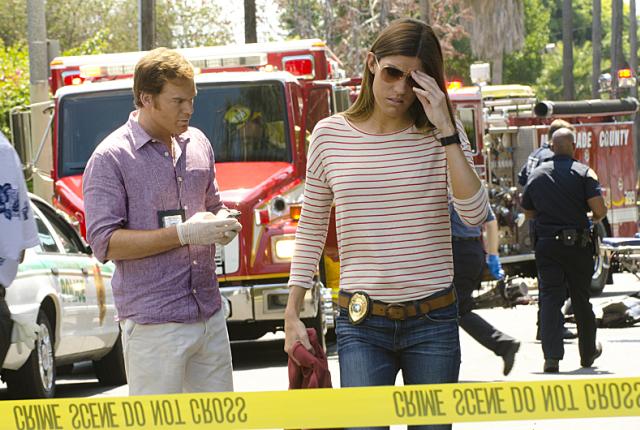 Deb at a crime scene