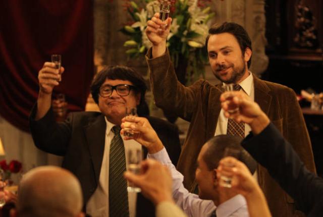 The gang celebrates