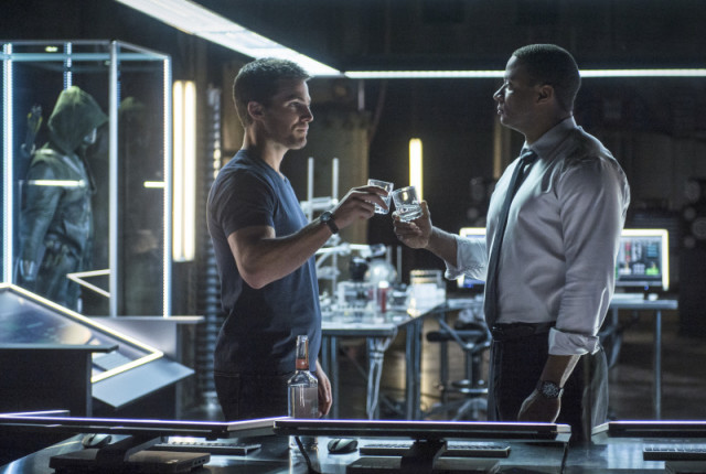 Cheers to oliver and diggle