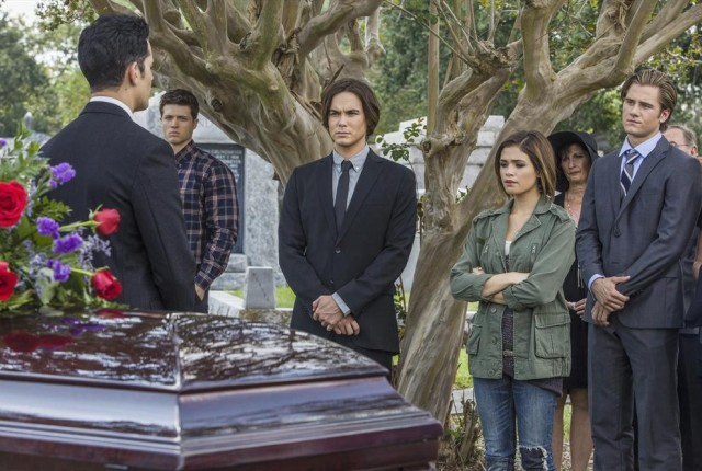 At mirandas funeral