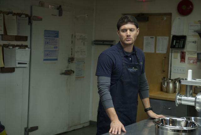 Dean in a hairnet