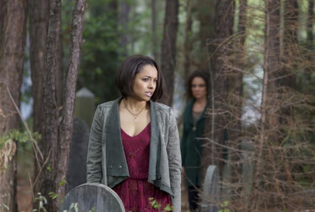 Bonnie at a grave