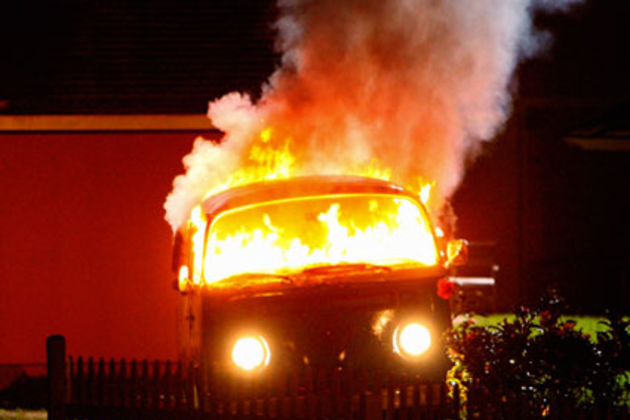 Van-on-fire