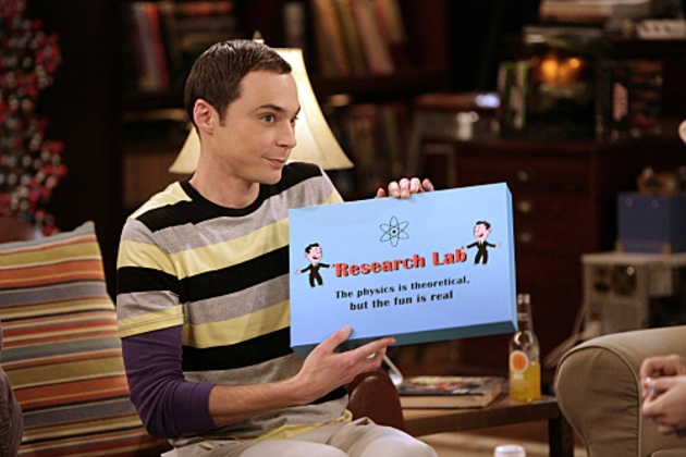 Sheldon-shows-off-board-game