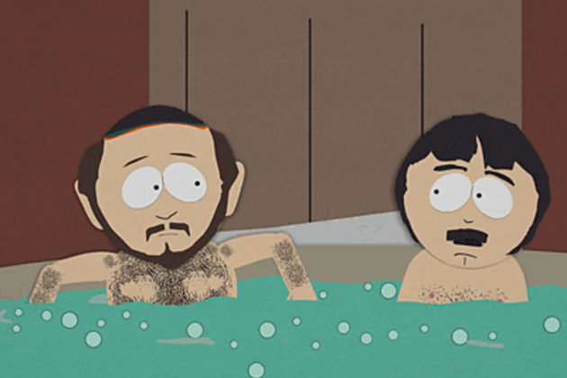 2 Guys Naked in a Hot Tub