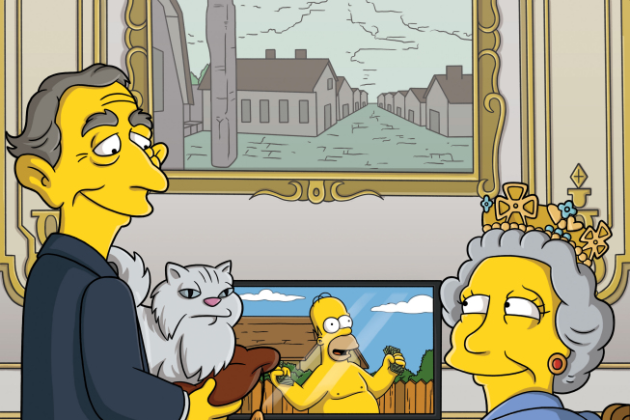 The-queen-on-the-simpsons