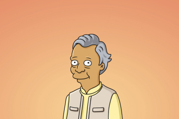 Muhammad-yunus-on-the-simpsons