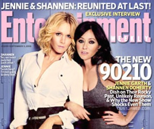 Jennie Garth and Shannen Doherty Grace Entertainment Weekly Cover