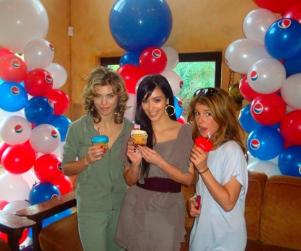 AnnaLynne McCord and Shenae Grimes Party for President, with Kim Kardashian