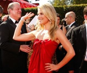 Ali Larter and Zachary Quinto at the Emmy Awards