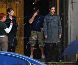 Cristine Rose and Milo Ventimiglia On Set