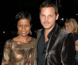Justin Chambers, Keisha Chambers at Movie Premiere