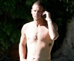 Justin Chambers Chills in Palm Springs