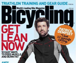 Patrick Dempsey Enjoys Bicycling, Too