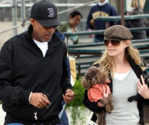 Ellen Pompeo, Chris Ivery Take in Baseball Game