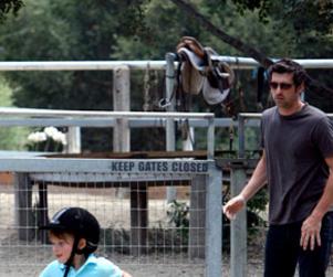 Patrick Dempsey Horses Around
