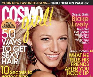 Blake Lively is a CosmoGIRL!
