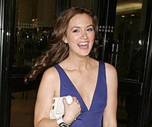 Leighton Meester Checks Out The Filthy Youth