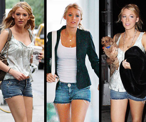 Blake Lively Hearts Short Shorts