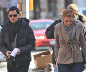 Blake Lively and Penn Badgley Head to Work