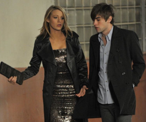 Blake Lively, Chace Crawford on the Set