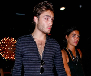 Ed Westwick Does Some Birthday Bowling
