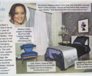 A Look Inside Blair Waldorf's Dorm Room