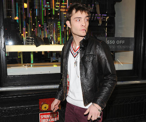 Ed Westwick Shops in SoHo