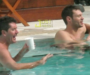 American Idol Picture of the Day: Simon Cowell and Ryan Seacrest at Play