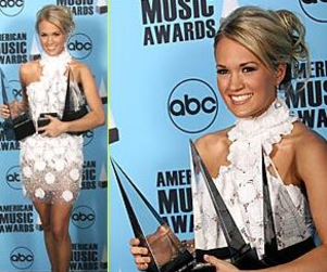 Carrie Underwood, Chris Daughtry Clean Up at American Music Awards