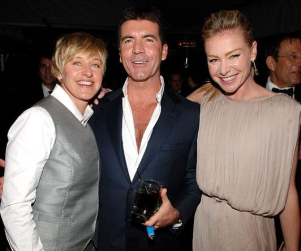 Simon Cowell Gets His Oscar Party On