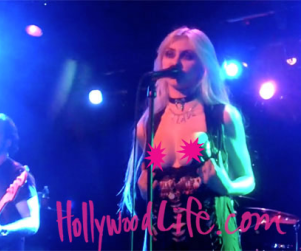 Taylor Momsen Flashes Crowd in Concert