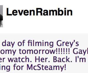 Leven Rambin: Coming for McSteamy!