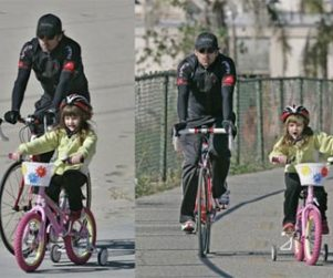 Patrick Dempsey, Daughter Go For a Ride