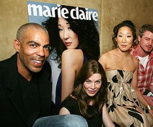 Sandra Oh & Friends Out Celebrating