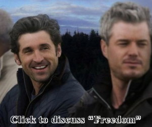 "Discuss ""Freedom"" in our Grey's Anatomy Forum!"