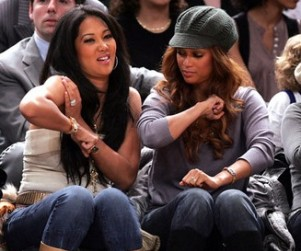 Tyra Banks, Friends Hangin' Courtside