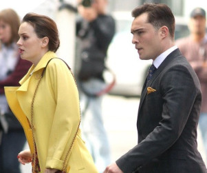 Spotted on the Set of Gossip Girl ...
