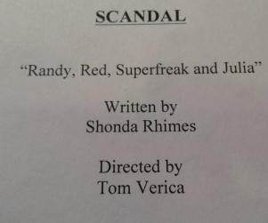 Scandal Season Premiere to Be Titled...