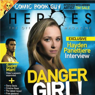 The Cover of Heroes Magazine